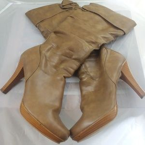Rampage Shoes - Rampage Brittany Brown Knee-High Boots, sz 8M